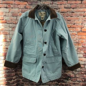LL Bean Canvas Barn Coat Jacket SMALL